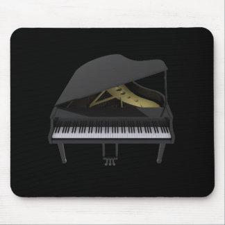Black Grand Piano: 3D Model: Mousepad