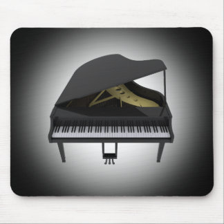 Black Grand Piano: 3D Model: Mousepad