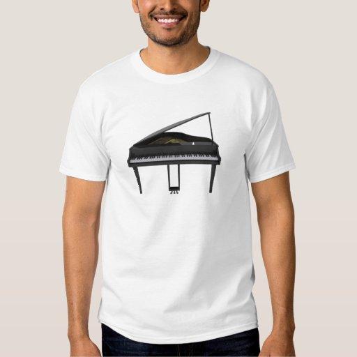 Black Grand Piano: 3D Model: T Shirt