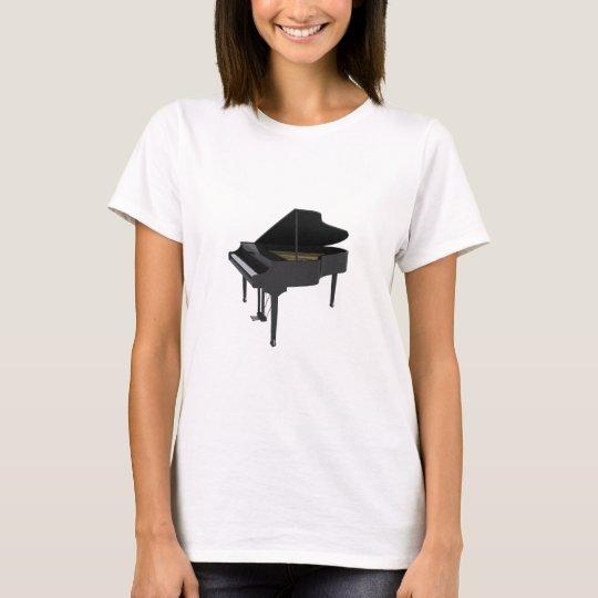 Black Grand Piano: 3D Model: T-Shirt