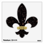 Black Granite Fleur De Lis Wall Sticker