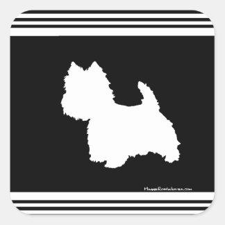 Black Graphic Square Sticker