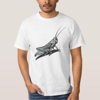 Black Grasshopper  Etching Drawing Tee Shirt