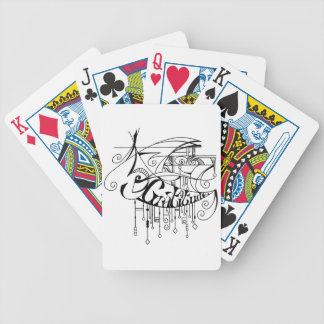 Black Gratitude In Lines and Dangles Bicycle Playing Cards