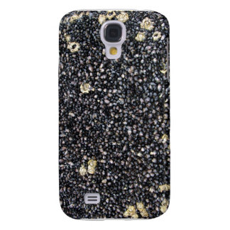 Black Gravel Background Detail Samsung Galaxy S4 Covers