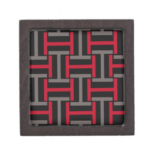 Black, Gray and Red T Weave Gift Box