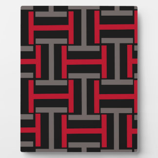 Black, Gray and Red T Weave Plaque