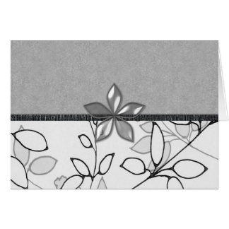 Black, Gray and White Floral (3) Card