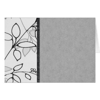 Black, Gray and White Floral Card