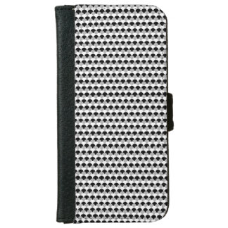 Black, Gray and White Gumdrop Pattern iPhone 6/6s Wallet Case