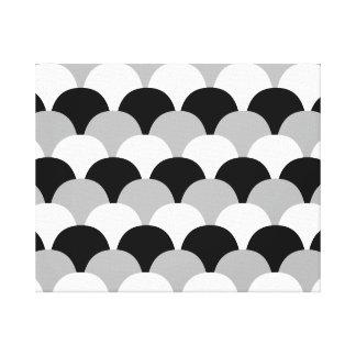 Black, Gray and White Gumdrops Canvas Print