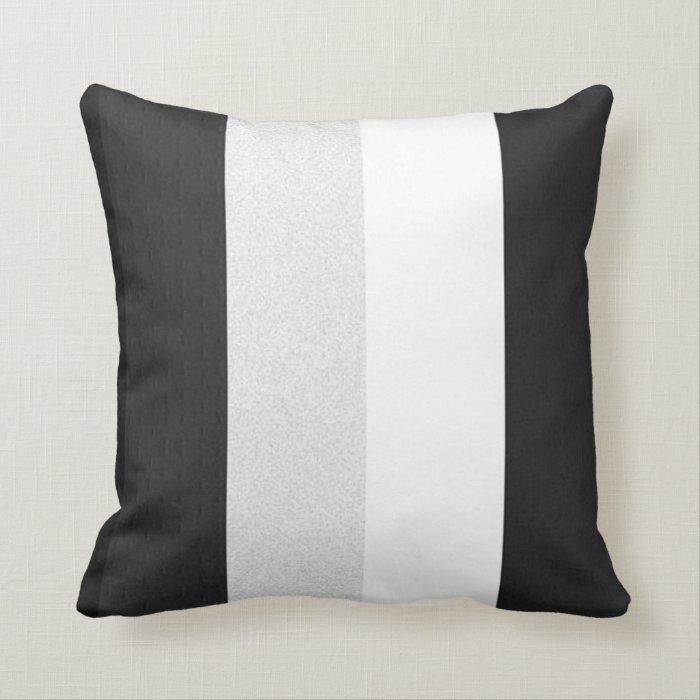 Black Gray And White Throw Pillow Zazzle