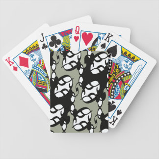Black,Gray and White Tribal Lace Bicycle Playing Cards