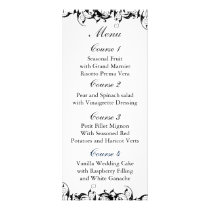 Black Gray Baroque Wedding Rack Card