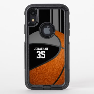 black gray basketball team colors varsity boys OtterBox commuter iPhone XR case