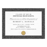 Black & Gray Border Diploma Graduation Invitation