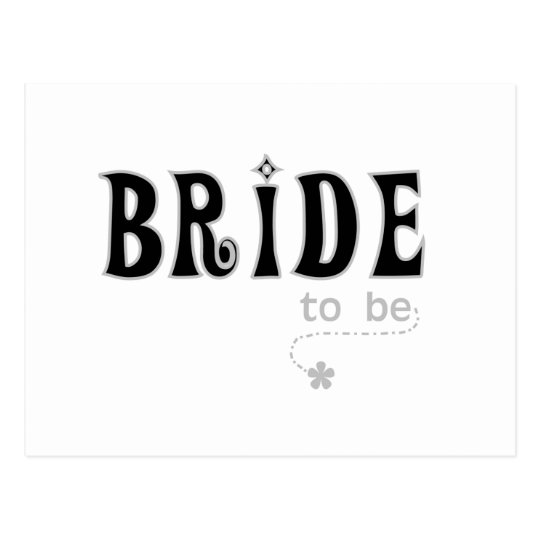 Black/Gray Bride to Be Postcard