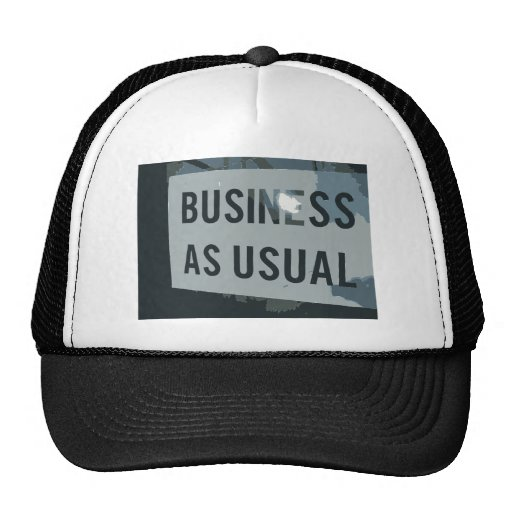 Black & Gray Business As Usual Sign Hat