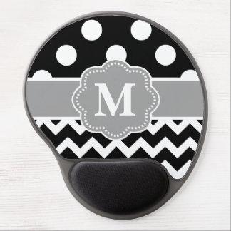 Black Gray Chevron Monogram Mousepad