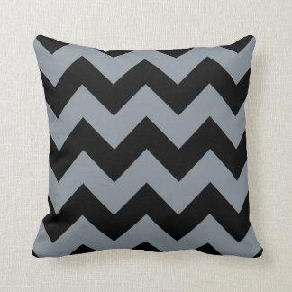 black & gray chevron stripes pattern throw pillows
