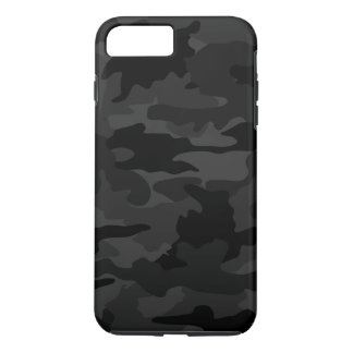 Black & Gray Cool Camo Camouflage Pattern Durable iPhone 8 Plus/7 Plus Case