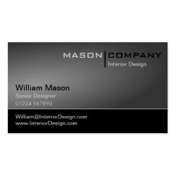 Black & Gray Corporate Business Card