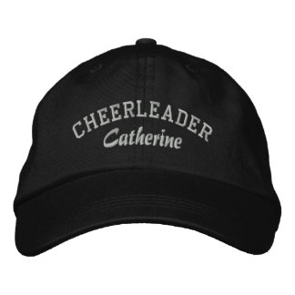 Black & Gray Custom Cheerleader's Hat