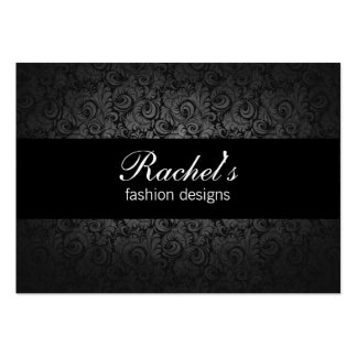 black gray floral fashion coutoure business card