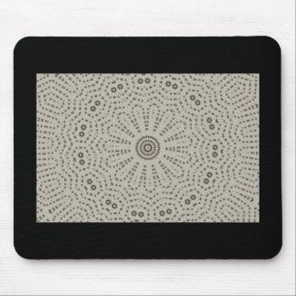 Black & gray flower fractal design mouse pad