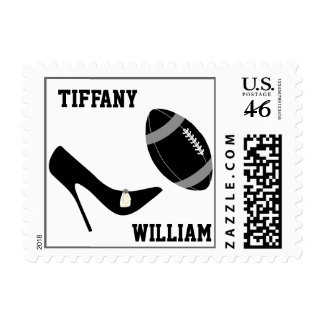 Black & Gray Football Themed Stamps