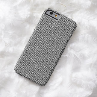 Black Gray Geometric Reversed Diamonds Barely There iPhone 6 Case