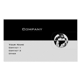 Black Gray Globe Business Card Templates