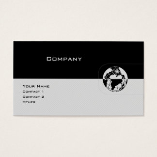 Black & Gray Globe Business Card