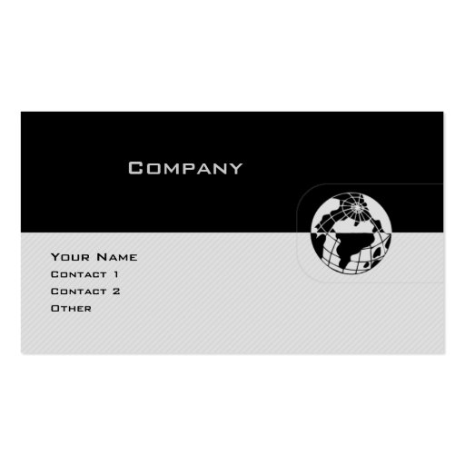 Black & Gray Globe Business Card Templates