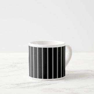 Black Gray Grey Pinstripe Stripe Pattern Espresso Mug