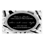 Black & Gray Hair & Beauty Appointment Business Card