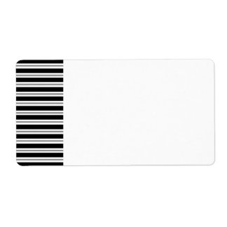 Black Gray Horizontal Stripes Label