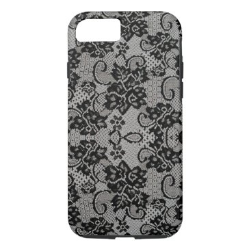Aztec Themed (black & gray lace) iPhone 8/7 case
