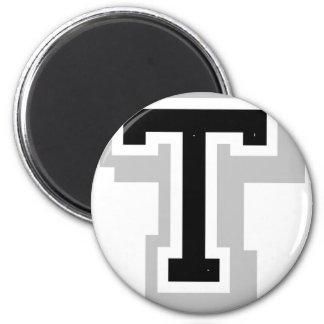 black gray letter T Magnet