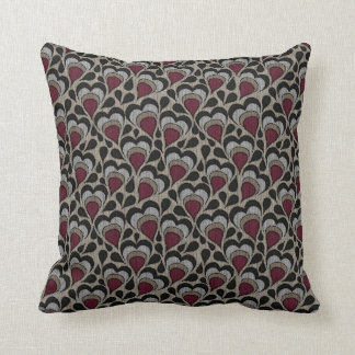 Throw Pillows Maroon : Maroon Gray Pillows - Decorative & Throw Pillows Zazzle