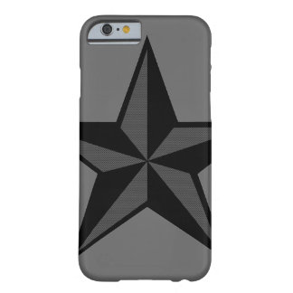 Black & Gray Nautical Star iPhone 6 case