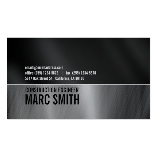 Black & Gray on Metalic Paper Business Cards