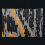 "Black, Gray, Orange Abstract Art Retro Placemats<br><div class=""desc"">Black,  Gray,  Orange Abstract Art Retro</div>"