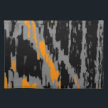 "Black, Gray, Orange Abstract Art Retro Placemats<br><div class=""desc"">Black,  Gray,  Orange Abstract Art Retro</div>"