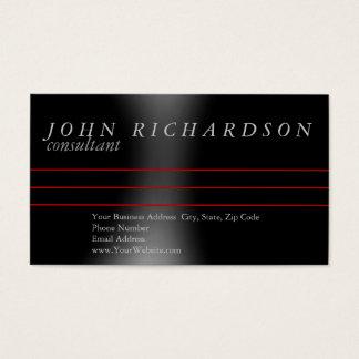 Black Gray Simple Modern Elegant Business Card