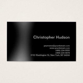 Black Gray Simple Plain Standard Business Card