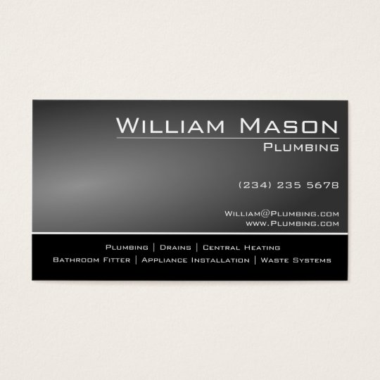 Black & Gray Skilled Tradesman Business Card
