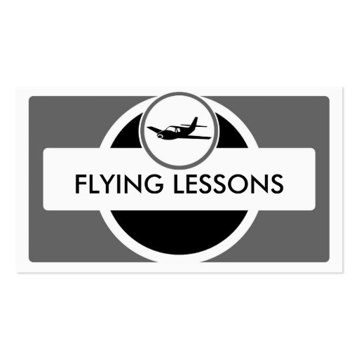 Black gray small plane flying pilot business cards