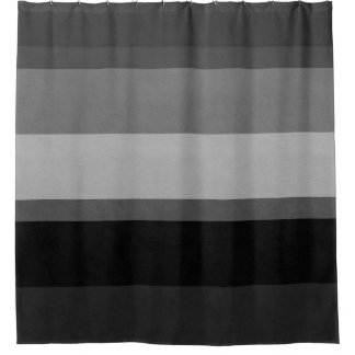 Black & Gray Sophisticated striped shower curtain
