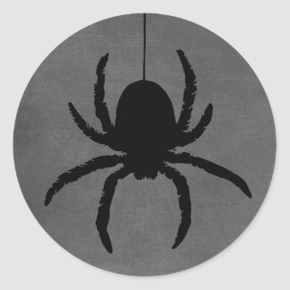 Black Gray Spooky Halloween Spider Stickers